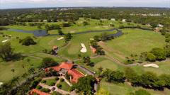 Biltmore golf club aerial video Stock Footage
