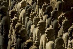 the terracotta army - stock photo