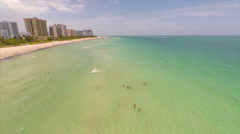 Aerial Miami Beach 180 aerial video Stock Footage