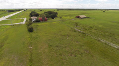 Aerial video of a Florida farm Stock Footage