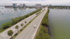Aerial drone Miami video Stock Footage