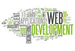 word cloud web development - stock illustration