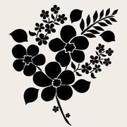 decorative flowers. design element. wedding invitations, cards, banners - stock illustration