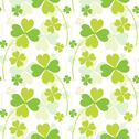 Stock Illustration of seamless pattern with decorative clovers, for invitations, cards, scrapbooking