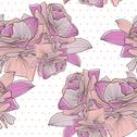 Stock Illustration of seamless pattern with decorative roses, for invitations, cards, scrapbooking