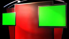 Virtual Studio Background with animated Green Screen TV Stock Footage