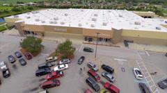 Aerial Clewiston Walmart 2 Stock Footage