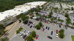 Aerial strip mall Ft Myers - stock footage