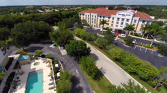 Aerial Springhill suites Marriott Stock Footage