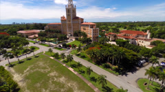 Biltmore Hotel Miami aerial video Stock Footage