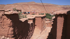 Village houses in Ounila valley in the foothills of the Atlas mountains, Tamdagh Stock Footage
