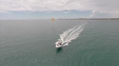 Aerial parasailing 2 Stock Footage