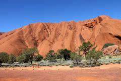 Uluru Ayes Rock Australia Stock Photos