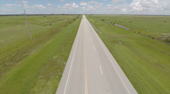 Aerial video of a truck on the highway 2 Stock Footage