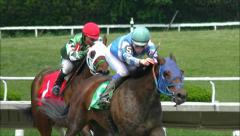 Horse Racing slow motion win Stock Footage