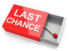 your last chance - stock illustration