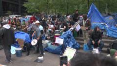 Protest Drum Circle for editorial use Stock Footage