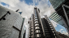 HD time lapse of the iconic Lloyd's of London on Leadenhall street in the City Stock Footage