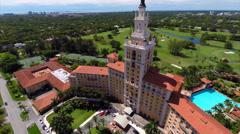 Aerial video Biltmore Hotel orbit Stock Footage