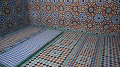 Morocco, Marrakech, Saadian Tombs Stock Footage