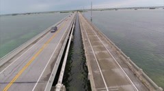 Stock Video Footage of Aerial Florida Keys bridge