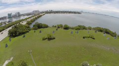 JFK Causeway aerial video Stock Footage