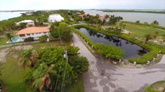 Aerial Florida Keys homes 2 Stock Footage