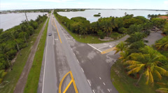 Aerial Florida Keys homes Stock Footage