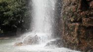 Stock Video Footage of waterfall in parc de la colline du chateau, nice, france.