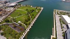 Aerial Museum Park Miami Stock Footage