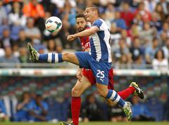 Gabriel Torje of RCD Espanyol - stock photo
