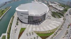 Aerial Museum Park Downtown Miami Stock Footage