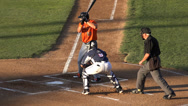 Stock Video Footage of Baseball Foul Tip, Fail, Deflected Hit