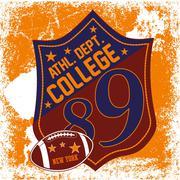college sports badge vector art - stock illustration