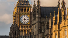 HD time lapse of Big Ben and the Houses of Parliament in London Stock Footage