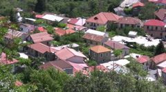 Houses with red roofs in Pedoulas village Stock Footage