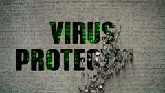 Virus Protection Crumbling Wall Stock Footage