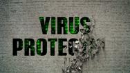 Stock Video Footage of Virus Protection Crumbling Wall