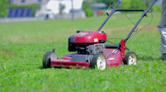 Lawn mower Close up Stock Footage