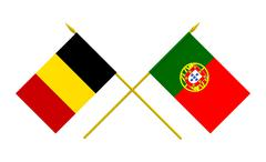 Stock Photo of flags, belgium and portugal