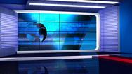 News TV Studio Set 35-Virtual Green Screen Background Loop Stock Footage