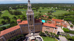 Aerial video Biltmore Hotel Miami 3 Stock Footage