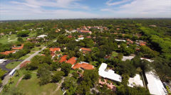 Aerial Coral Gables neighborhoods Stock Footage