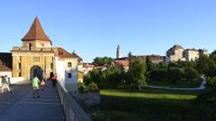 Krumau, czech republic Stock Footage