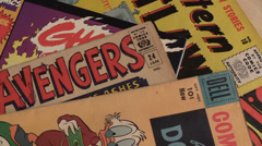 vintage comic books - stock footage