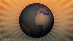 Vintage Globe Rotate Stock Footage