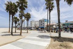 venice beach bike path - stock photo