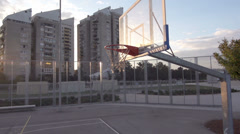 Slow-Mo: Basketball Player Performing Alley-Oop Stock Footage