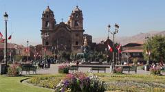 Peru Church of la Compañía de Jesus in Cusco Stock Footage