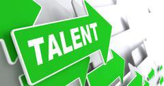 Talent on Green Direction Arrow Sign. - stock illustration
